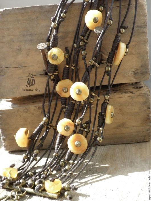 Браслеты ручной работы. Ярмарка Мастеров - ручная работа. Купить Браслет янтарный Пойманное солнце. Handmade. Янтарный браслет