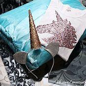 Юбка-пачка для девочки, футболка с декором, ободок. Костюм единорога