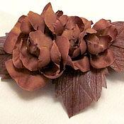 Украшения ручной работы. Ярмарка Мастеров - ручная работа Розы шоколадного цвета. Handmade.