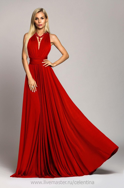 Платья вечерние красно белые фото