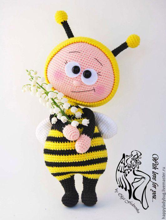 Человечки ручной работы. Ярмарка Мастеров - ручная работа. Купить Бонни-пчелка. Handmade. Комбинированный, девочка, вязанаая кукла, фетр