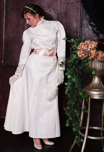 """Платья ручной работы. Ярмарка Мастеров - ручная работа. Купить Платье в винтажном стиле """"Нежность"""". Handmade. Орнамент, длинная юбка"""