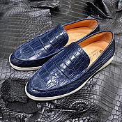 Обувь ручной работы handmade. Livemaster - original item Men`s loafers made of genuine crocodile leather, premium model!. Handmade.