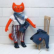 Куклы и игрушки handmade. Livemaster - original item Stylish Red cat is a textile stuffed toy. Handmade.