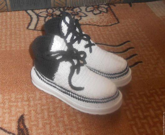Обувь ручной работы. Ярмарка Мастеров - ручная работа. Купить Кеды. Handmade. Чёрно-белый, кроссовки