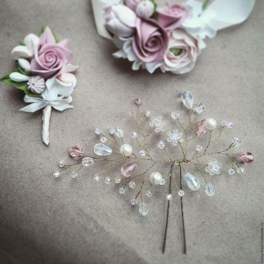 Свадебные украшения ручной работы. Ярмарка Мастеров - ручная работа. Купить Свадебное украшение для прически. Handmade. Образ невесты