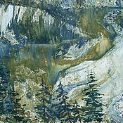 Картины и панно handmade. Livemaster - original item The Picture Land Of The Urals. graphics. Mixed media.. Handmade.