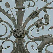 """Для дома и интерьера ручной работы. Ярмарка Мастеров - ручная работа Кованые ворота """"Русские сказки"""". Handmade."""