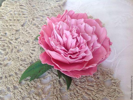 """Броши ручной работы. Ярмарка Мастеров - ручная работа. Купить Брошь из фоамирана """"Принц"""". Handmade. Розовый, розовый пион, фоамиран"""
