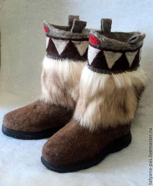 """Обувь ручной работы. Ярмарка Мастеров - ручная работа. Купить валенки """"Волчий зуб"""". Handmade. Валенки, валенки с рисунком"""