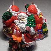 Свечи ручной работы. Ярмарка Мастеров - ручная работа Новогодние свечи Дед Мороз. Handmade.