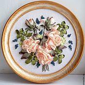 """Картины и панно ручной работы. Ярмарка Мастеров - ручная работа Картина""""Чайная роза"""". Handmade."""