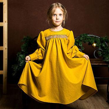 Работы для детей, ручной работы. Ярмарка Мастеров - ручная работа Теплое платье в русском стиле для девочки. Handmade.