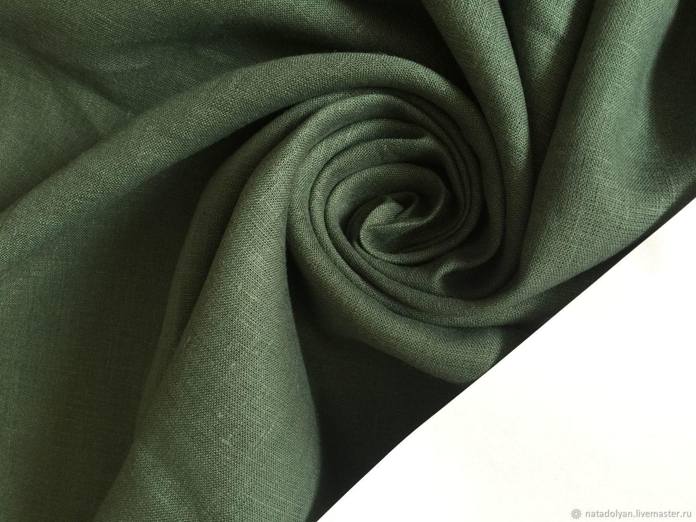 100% linen suit ' Green moss,dark green', Fabric, Ivanovo,  Фото №1