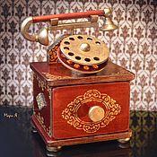 Для дома и интерьера ручной работы. Ярмарка Мастеров - ручная работа Шкатулка телефон, Шкатулки для мужчин, Мужские шкатулки. Handmade.