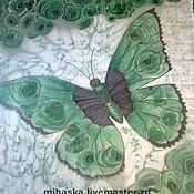 """Аксессуары ручной работы. Ярмарка Мастеров - ручная работа Шарф """"Бабочки-самоцветы""""-2  Малахит. Handmade."""