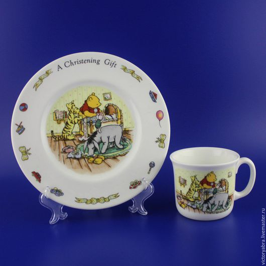 Винтажная посуда. Ярмарка Мастеров - ручная работа. Купить Кружка и тарелка Royal Doulton. Handmade. Комбинированный