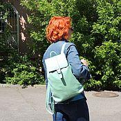 Сумки и аксессуары handmade. Livemaster - original item Women`s leather backpack mint menthol Mod P10-131. Handmade.