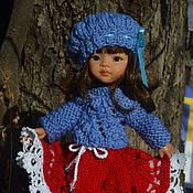Куклы и игрушки handmade. Livemaster - original item Sweater, skirt, cap and leg warmers for Paola Reina doll.. Handmade.