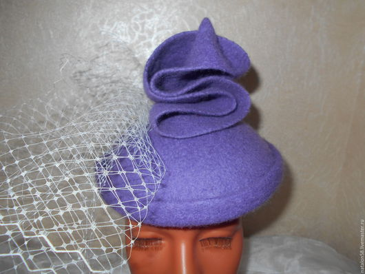 """Шляпы ручной работы. Ярмарка Мастеров - ручная работа. Купить Шляпка коктейльная """"ГРЕЗЫ"""". Handmade. Вуалетка, шляпка для скачек, подарок"""