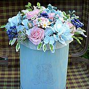 Цветы и флористика handmade. Livemaster - original item Flowers in a hatbox. Handmade.