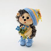Куклы и игрушки handmade. Livemaster - original item Knitted toy with forget-me-nots. Handmade.
