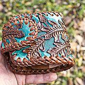 Сумки и аксессуары handmade. Livemaster - original item Brown leather purse. Handmade.