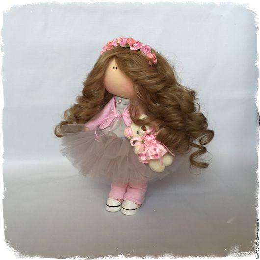 Куклы тыквоголовки ручной работы. Ярмарка Мастеров - ручная работа. Купить Интерьерная кукла-малышка. Handmade. Серый, ручная работа