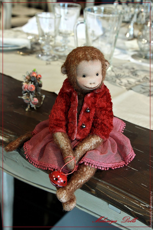 Friends Teddy. The author's work.Monkey Tutsi - cutie, Stuffed Toys, Vladikavkaz,  Фото №1