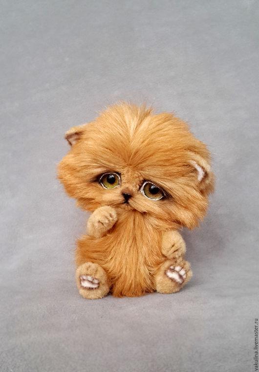 Мишки Тедди ручной работы. Ярмарка Мастеров - ручная работа. Купить котёнок тедди Рыжик. Handmade. Рыжий, котенок, пушистик