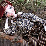 Куклы и игрушки ручной работы. Ярмарка Мастеров - ручная работа Подвижная кукла Яшка-артист.... Handmade.