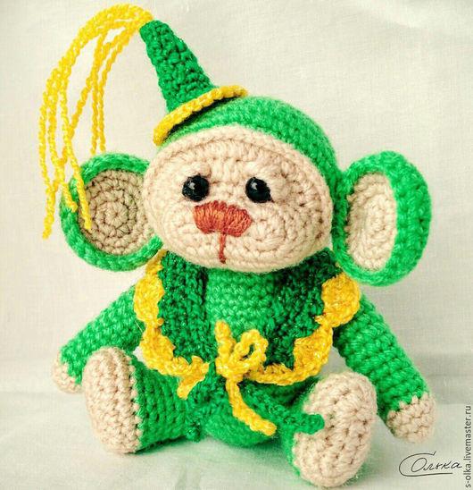"""Игрушки животные, ручной работы. Ярмарка Мастеров - ручная работа. Купить Обезьянка вязаная """"Грустишка"""" Вязаная обезьяна Игрушка. Handmade."""