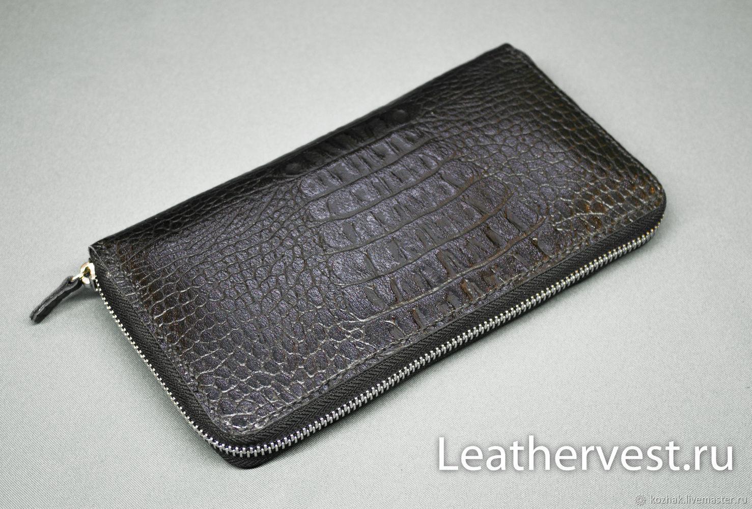 Copy of Leather zipper clutch, Classic Bag, Glazov,  Фото №1