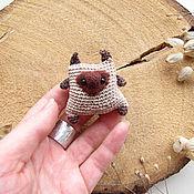 Куклы и игрушки ручной работы. Ярмарка Мастеров - ручная работа Вязаная валяная игрушка Сиамский кот - Siamese cat - Toy cat- Knit Toy. Handmade.