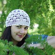 Аксессуары ручной работы. Ярмарка Мастеров - ручная работа Летняя ажурная женская шапочка. Бохостиль. Handmade.