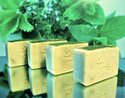 Мыло с петрушкой «Свежая зелень» натуральное, травяное