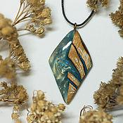 Украшения handmade. Livemaster - original item Pendant made of resin and wood jewelry. Handmade.