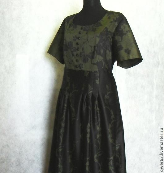 Платья ручной работы. Ярмарка Мастеров - ручная работа. Купить Платье длинное р.50 из хлопка с коротким рукавом. Handmade.
