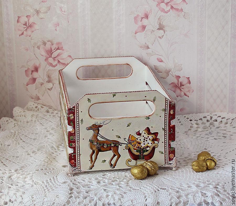 """Короб для новогодних сладостей и мандарин """" Сладкий Новый год """", Банки, Каменномостский,  Фото №1"""