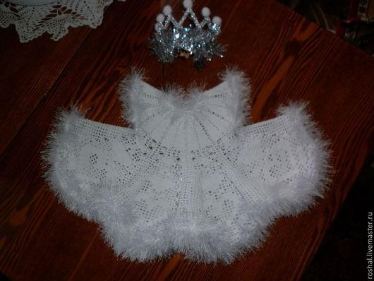 """Нарядное,ажурное,вязаное  платье для девочки возраст 2 года, новое, цвет белый. Состав пряжи(хлопок 100%, пряжа для вязания """"Нико"""")"""