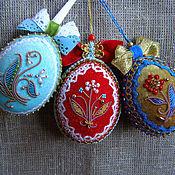 Сувениры и подарки ручной работы. Ярмарка Мастеров - ручная работа Бархатные пасхальные яйца. Handmade.