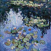Картины и панно handmade. Livemaster - original item Water lilies Original Oil painting 60 x 80 cm. Handmade.
