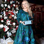 """Одежда ручной работы. Ярмарка Мастеров - ручная работа Авторское валяное платье """"Рeacock feather""""резерв. Handmade."""