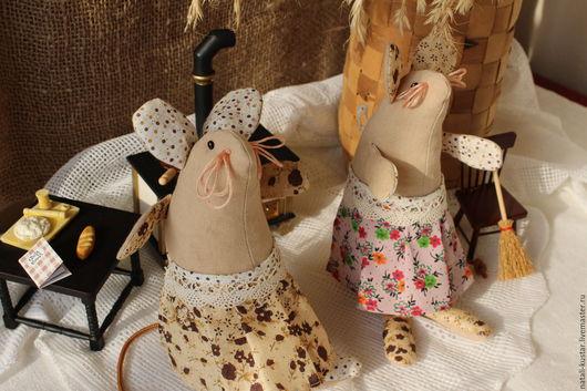 Ароматизированные куклы ручной работы. Ярмарка Мастеров - ручная работа. Купить Мышки хозяюшки. Handmade. Коричневый, игрушка ручной работы