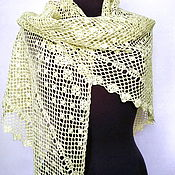 Аксессуары handmade. Livemaster - original item Summer shawl made of linen and silk Sunny rain. Handmade.