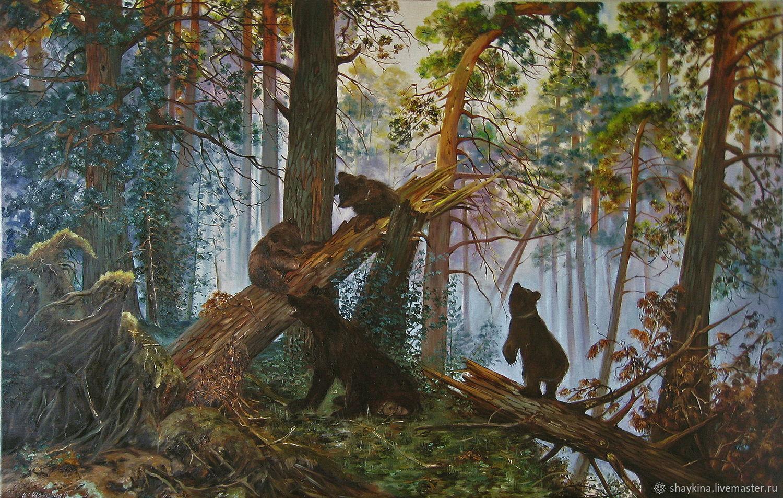творческий в сосновом лесу рисунок первоначальному замыслу