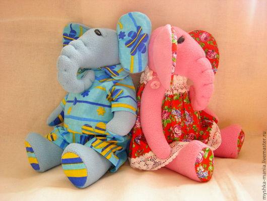 Игрушки животные, ручной работы. Ярмарка Мастеров - ручная работа. Купить Парочка слоников. Handmade. Розовый, игрушка ручной работы