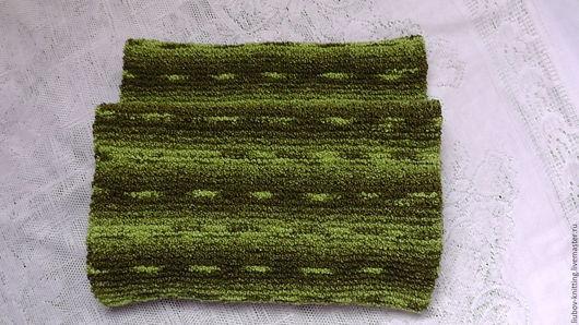 Шарфы и шарфики ручной работы. Ярмарка Мастеров - ручная работа. Купить Шарф-снуд на два оборота. Handmade. Зеленый