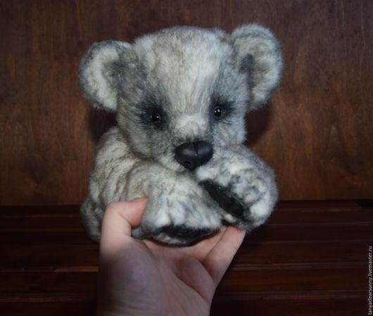 Мишки Тедди ручной работы. Ярмарка Мастеров - ручная работа. Купить Серенький мишка тедди.. Handmade. Серый, подарок, пластика