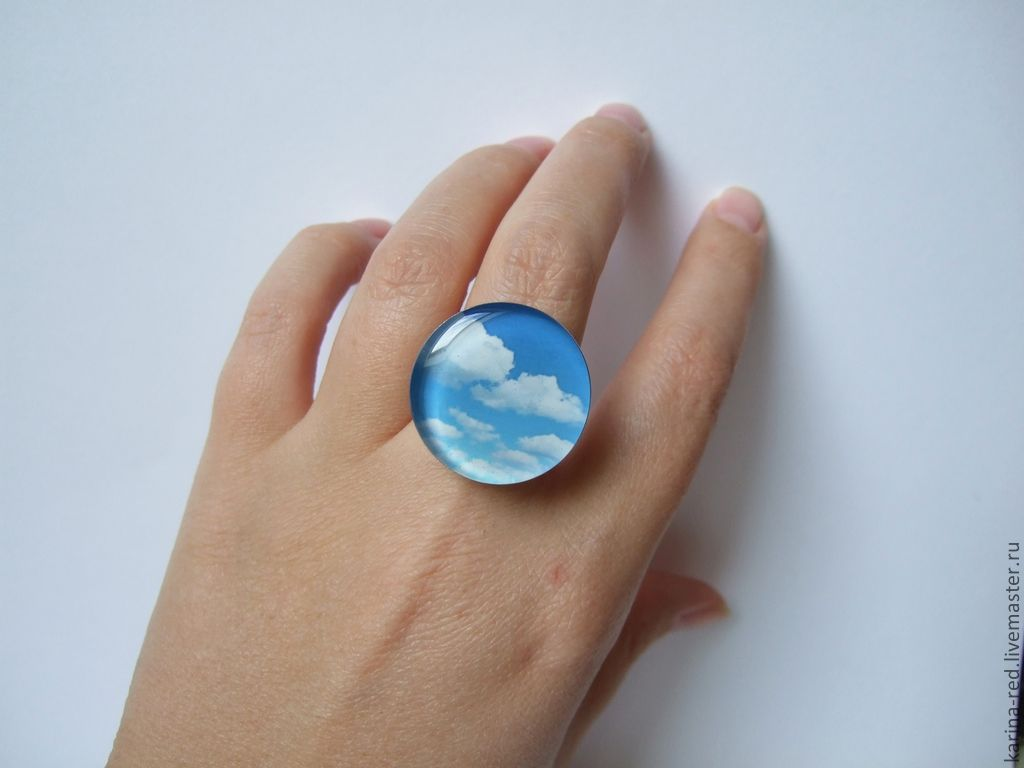 Large Ring Blue Blue Sky White Clouds, Rings, Taganrog,  Фото №1